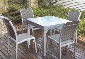 ריהוט גן - שולחן גן מאלומיניום להגדלה, כסאות אלומיניום