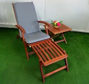 כיסא שיזוף סיפון ריפוד אקרילי שולחן שירות מתקפל